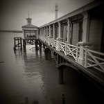 Photographs of Gravesend 'pier' made on a Holga Camera by Christopher John Ball - Photographer & Writer