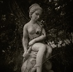 Holga photographs of Garden Memorials by Christopher John Ball