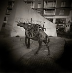 Holga photograph of Animals War Memorial London by Christopher John Ball